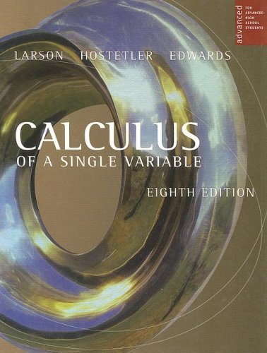 9780618503049: Calculus Of A Single Variable For Advanced High School Students, 8th Edition