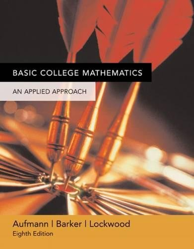 9780618503056: Basic College Mathematics: An Applied Approach