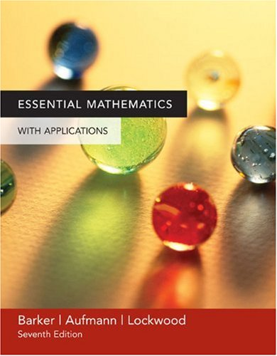 9780618503063: Essential Mathematics with Applications
