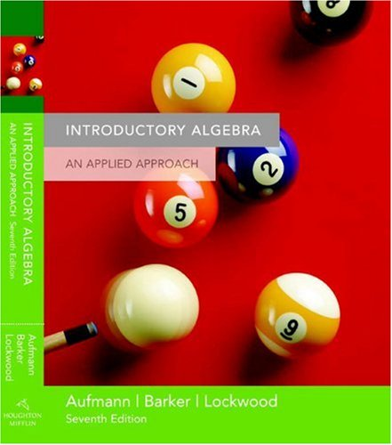 9780618503070: Introductory Algebra: An Applied Approach