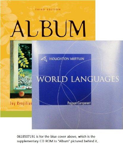 9780618507191: Audio CD-ROM (2) for Renjilian-Burgy's Album, 3rd (English and Spanish Edition)
