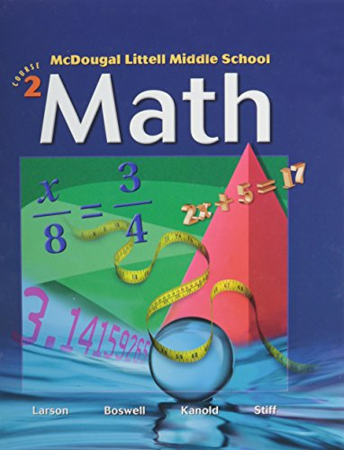 9780618508150: McDougal Littell Middle School Math, Course 2: Student Edition © 2005 2005