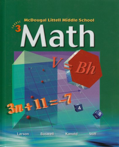 9780618508174: McDougal Littell Middle School Math, Course 3: Student Edition © 2005 2005