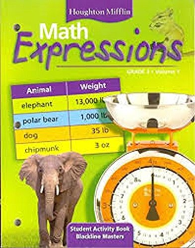 9780618512034: Math Expressions: Student Activity Book, Blackline Masters, Vol. 2