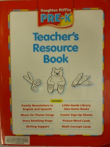 9780618513208: Houghton Mifflin Pre-K: Teacher's Resource Book (Themes 1-10) Grade Pre K 2006