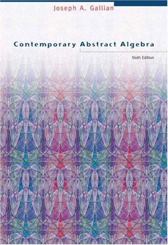 9780618514717: Contemporary Abstract Algebra
