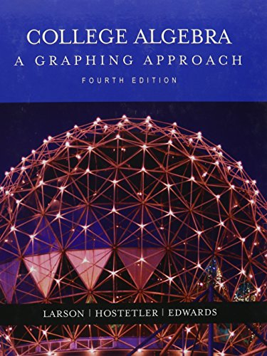 9780618515516: College algebra: A graphing approach