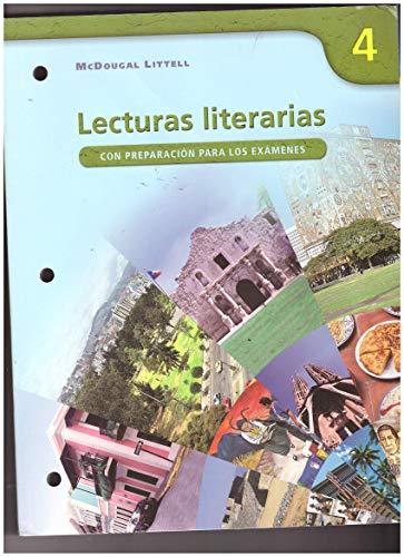 Lecturas literarias 4 Workbook (Con preparacion para