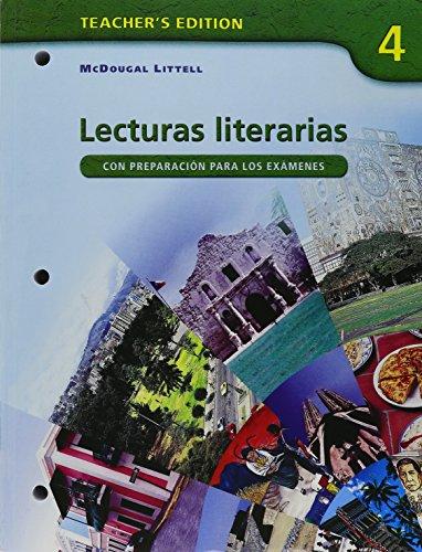 Â¡Avancemos!: Lecturas literarias Teacher's Edition Level 4: MCDOUGAL LITTEL