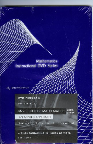 9780618520213: Houghton Mifflin Instructional Dvds: Used with ...Barker-Essential Mathematics with Applications; Aufmann-Basic College Mathematics: An Applied Approach