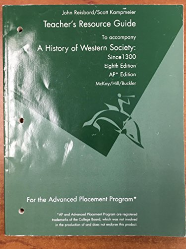 9780618522743: Teacher's Resource Guide (to accompany: A History of Western Society: since 1300, 8th Edition)