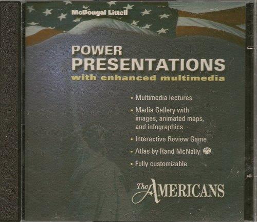 9780618526574: McDougal Littell The Americans: Power Presentations Cd-Rom Grades 9-12