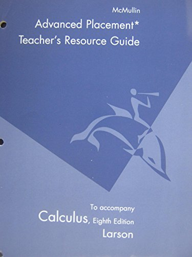 9780618527984: Teacher's Resource Guide to Accompany Calculus, 8th Edition