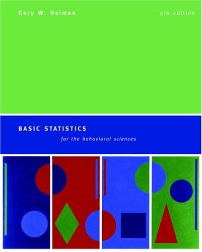 9780618528134: Basic Statistics for the Behavioral Sciences