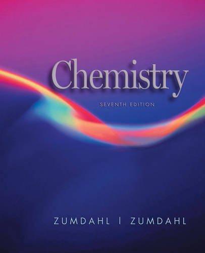 Student solutions manual for zumdahl/zumdahl's chemistry 7th.