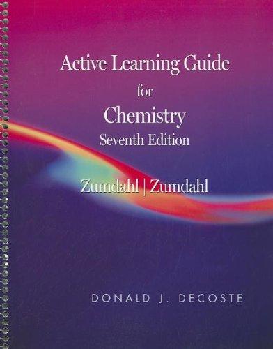 Active Learning Guide for Zumdahl/Zumdahl's Chemistry, 7th: Zumdahl, Steven S., Zumdahl, ...