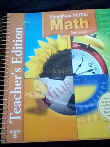 9780618529131: Houghton Mifflin Math, Tennessee Grade 5: Teacher's Edition (Volume 1)
