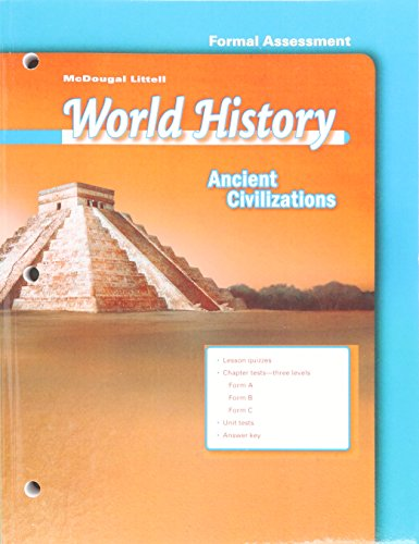 9780618529919: World History Ancient Civilizations Test Guides/Answer Keys Grade 6: