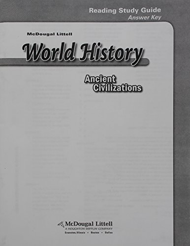 McDougal Littell World History: Ancient Civilizations: Reading Study Guide Answer Key: LITTEL, ...