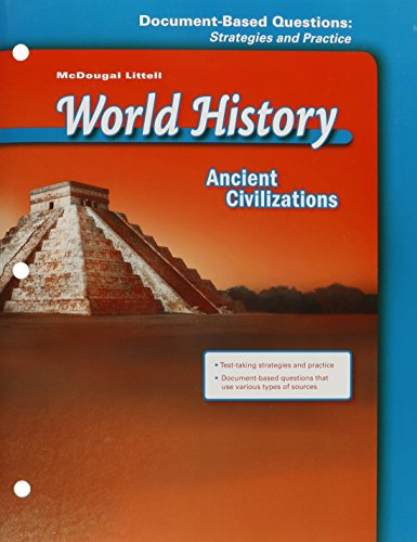 9780618530137: McDougal Littell World History: Document Based Questions: Strategies and Practice Grade 6 Ancient Civilizations