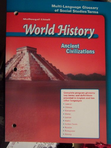 9780618530144: McDougal Littell World History: Ancient Civilizations: Multi-Language Glossary of Social Studies Terms