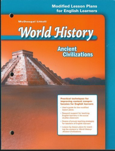 9780618530267: McDougal Littell World History: Ancient Civilizations: Modified Lesson Plans for English Learners