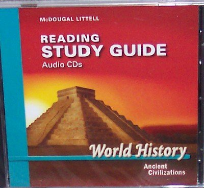 9780618530502: McDougal Littell World History: Ancient Civilizations: Reading Study Guide Audio CDs
