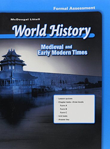 9780618530724: McDougal Littell World History: Test Guides/Answer Keys Grade 7 Medieval and Early Modern Times