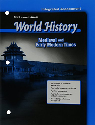9780618530748: McDougal Littell World History: Test Guides/Answer Keys Grade 7 Medieval and Early Modern Times