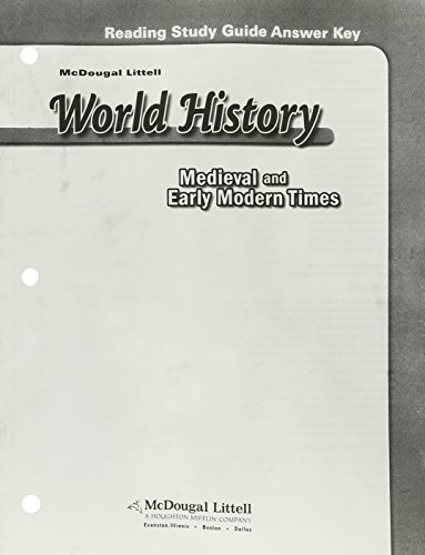 9780618530762: McDougal Littell World History: Medieval and Early Modern Times: Reading Study Guide Answer Key