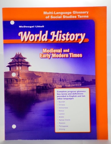 9780618530878: McDougal Littell World History: Medieval and Early Modern Times: Multi-Language Glossary of Social Studies Terms