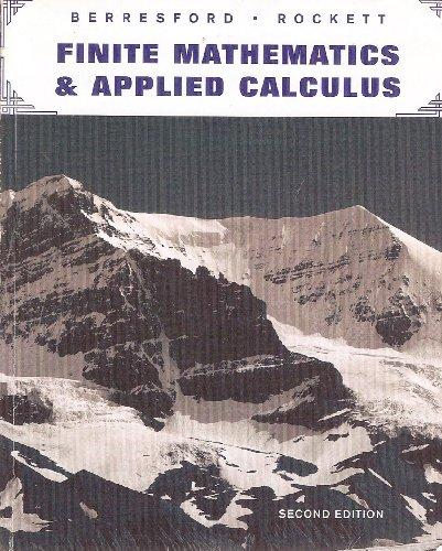 9780618530939: Finite Mathematics & Applied Calculus