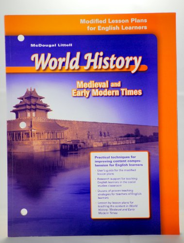 9780618530960: McDougal Littell World History: Ancient Civilizations: Modified Lesson Plans for English Learners