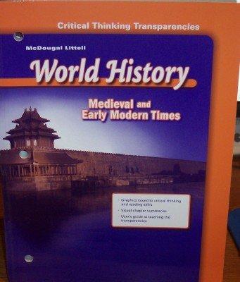 McDougal Littell World History: Critical Thinking Transparencies: MCDOUGAL LITTEL