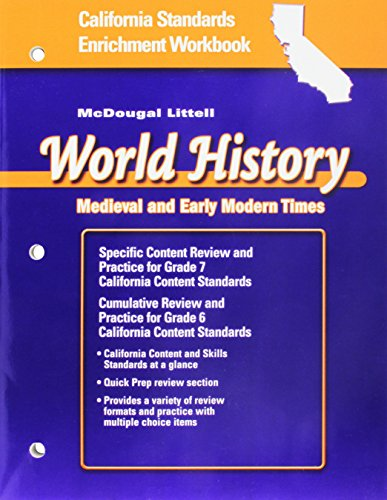 9780618531479: McDougal Littell World History California: Standards Enrichment Workbook Grade 7 Medieval and Early Modern Times
