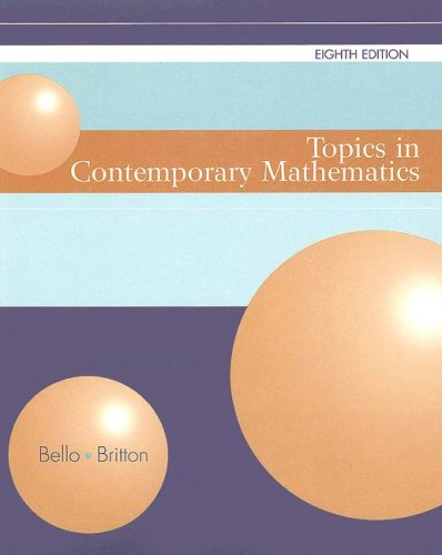 9780618531714: Topics in Contemporary Mathematics, Eighth Edition (Custom)