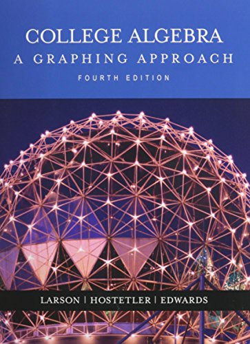9780618535477: College Algebra:a Graphing Approach + Study + Solutions Guide 4th Ed + Smarthinking