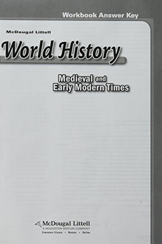 9780618539222: McDougal Littell World History: Medieval and Early Modern Times: Workbook Answer Key