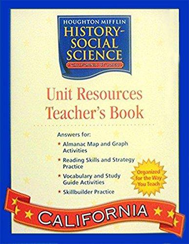 9780618540594: Houghton Mifflin Social Studies California: Unit Res & Prc Bk Tae L4