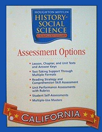 9780618540648: Houghton Mifflin Social Studies California: Assessmnt Opt Blm&Tae L4