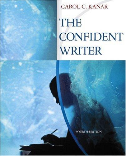 9780618541546: The Confident Writer