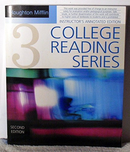 Houghton Mifflin College Reading Series Book Three: Mifflin, Houghton