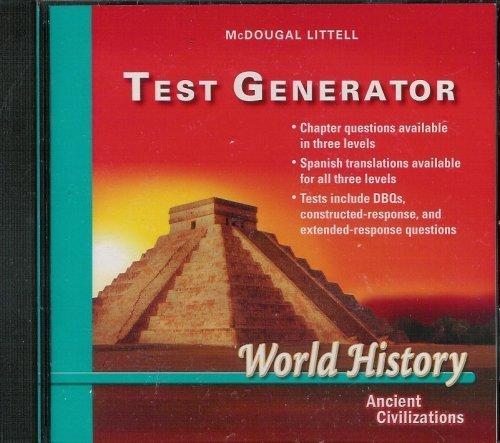 9780618546152: World History: Ancient Civilizations Test Generator CD-ROM