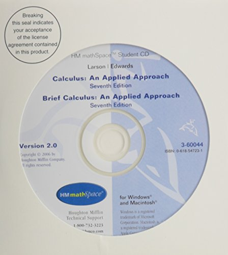 HM MATHSpace CD-ROM for Larson/Edwards' Calculus: An Applied Approach, 7th (0618547231) by Ron Larson; Bruce H. Edwards