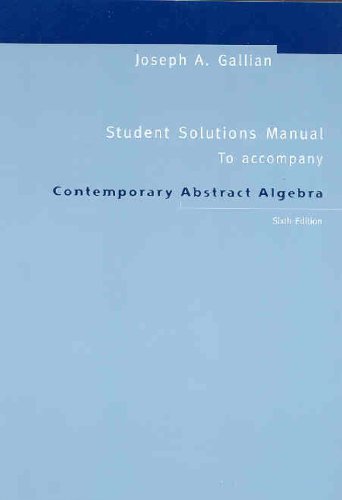 9780618547852: Contemporary Abstract Algebra: Student Solution Manual
