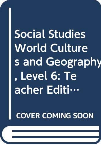9780618549863: Social Studies: World Cultures & Geography, Vol. 1, Teacher's Edition