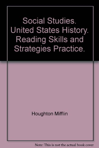 9780618550975: Social Studies. United States History. Reading Skills and Strategies Practice.