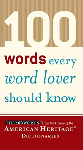 9780618551460: 100 Words Every Word Lover Should Know