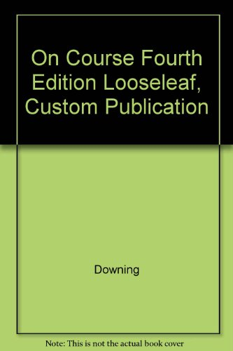 9780618554850: On Course Fourth Edition Looseleaf, Custom Publication
