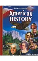 9780618556717: McDougal Littell Middle School American History: Student Edition 2008